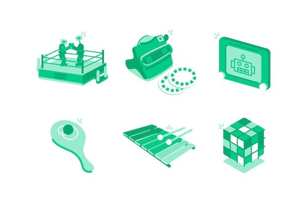 Illustration de jouets et jeux