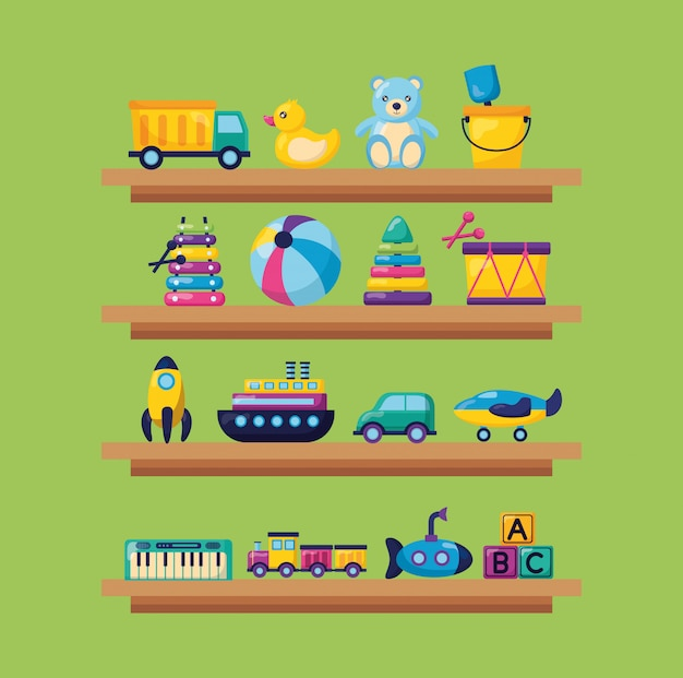 Illustration de jouets pour enfants