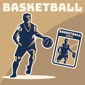 Illustration de joueur de basket-ball