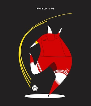Illustration de joueur de football concept coupe du monde