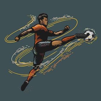 Illustration de joueur de football
