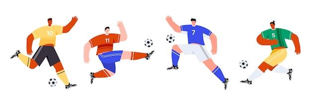 Illustration de joueurs de football