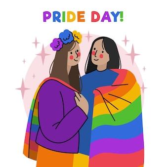 Illustration de jour de fierté dessiné à la main