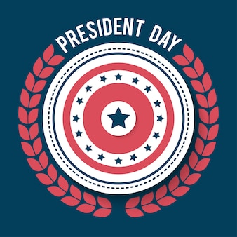 Illustration de jour heureux président. affiche du jour du président américain.