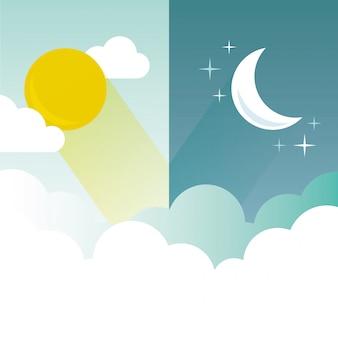 Illustration de jour et de nuit
