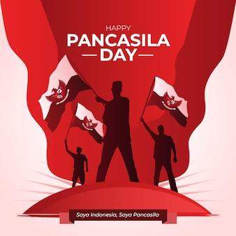 Illustration de jour de pancasila dégradé