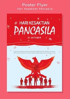 Illustration de jour de pancasila heureux