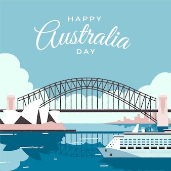 Illustration de jour plat australie