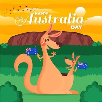 Illustration de jour plat australie
