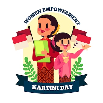 Illustration de jour plat kartini