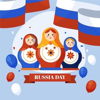 Illustration de jour plat russie