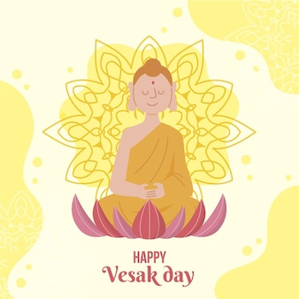 Illustration de jour plat vesak
