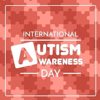 Illustration de jour de sensibilisation à l'autisme