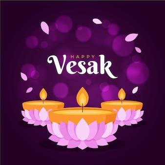 Illustration de jour de vesak floue