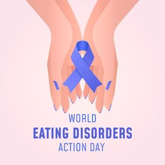 Illustration de la journée d'action pour les troubles de l'alimentation dans le monde dégradé