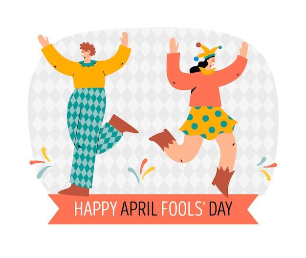 Illustration de la journée du poisson d'avril plat bio