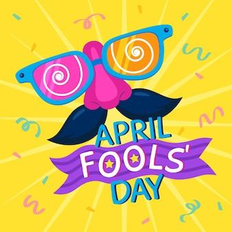 Illustration de la journée du poisson d'avril plat