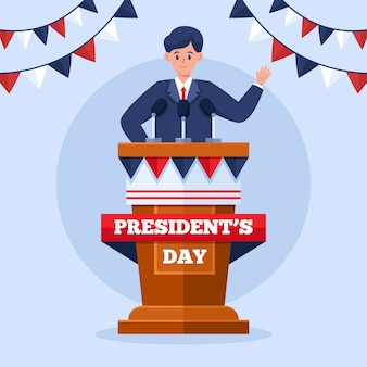 Illustration de la journée du président plat