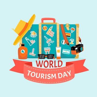 Illustration de la journée du tourisme dessinée à la main