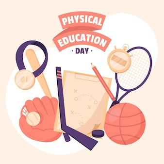 Illustration De La Journée De L'éducation Physique Vecteur gratuit