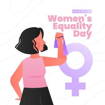 Illustration de la journée de l'égalité des femmes dégradées
