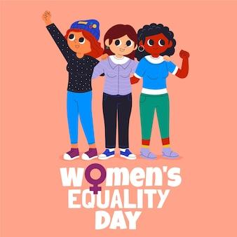 Illustration De La Journée De L'égalité Des Femmes De Dessin Animé Vecteur gratuit