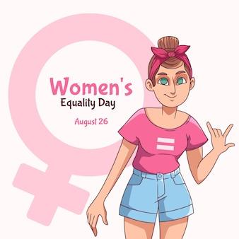 Illustration De La Journée De L'égalité Des Femmes Dessinée à La Main Vecteur Premium