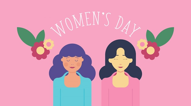 Illustration de la journée de la femme du 8 mars