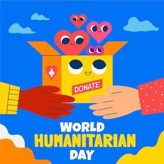 Illustration de la journée humanitaire mondiale de dessin animé