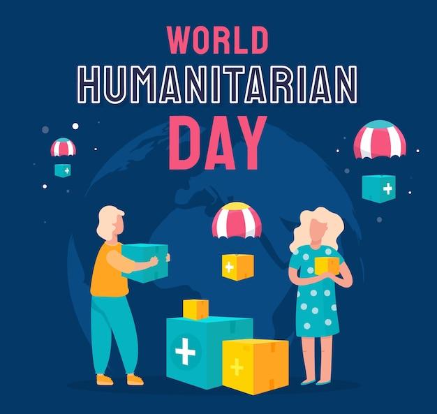 Illustration de la journée humanitaire mondiale dessinée à la main
