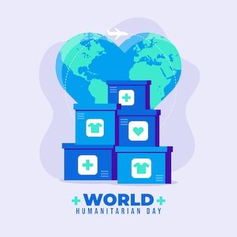 Illustration De La Journée Humanitaire Mondiale Vecteur Premium