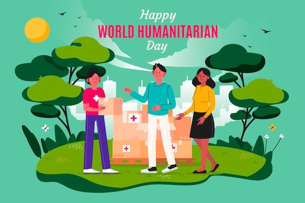 Illustration De La Journée Humanitaire Mondiale Vecteur gratuit