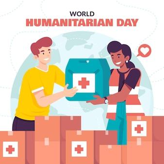 Illustration de la journée humanitaire mondiale
