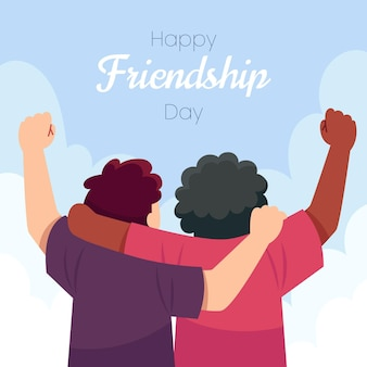 Illustration de la journée internationale de l'amitié plate