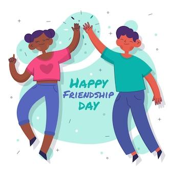 Illustration de la journée internationale de l'amitié