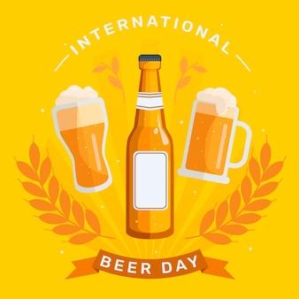 Illustration de la journée internationale de la bière plate