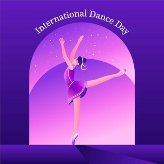Illustration de la journée internationale de la danse dégradé
