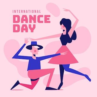Illustration de la journée internationale de la danse plate