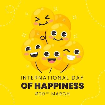 Illustration de la journée internationale du bonheur