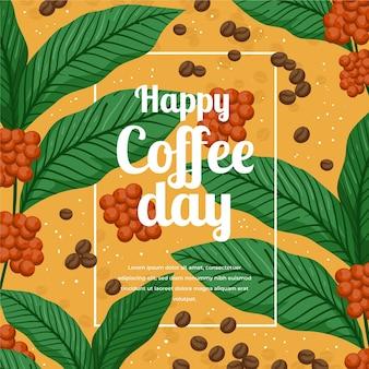 Illustration de la journée internationale du café dessinée à la main