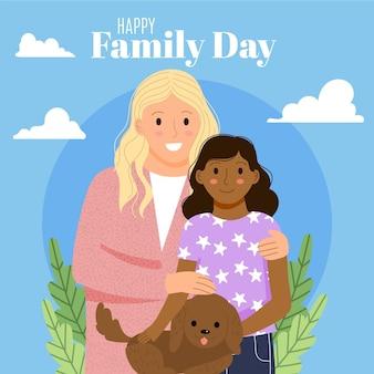 Illustration de la journée internationale des familles