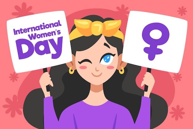 Illustration de la journée internationale de la femme dessinée à la main