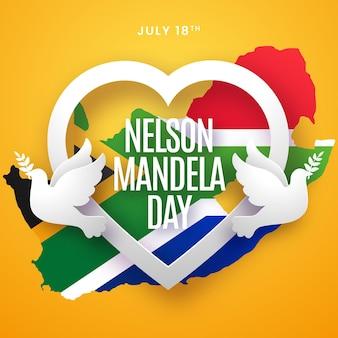 Illustration de la journée internationale de gradient nelson mandela