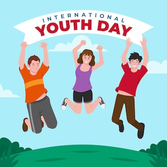 Illustration de la journée internationale de la jeunesse