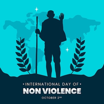 Illustration de la journée internationale de la non-violence