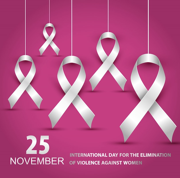 Illustration de la journée internationale pour l'élimination de la violence à l'égard des femmes