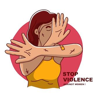 Illustration journée internationale pour l'élimination de la violence à l'égard des femmes