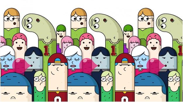 Illustration de la journée de la jeunesse. illustration de dessin animé de la journée de la jeunesse