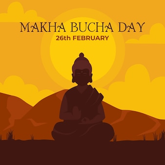 Illustration de la journée makha bucha