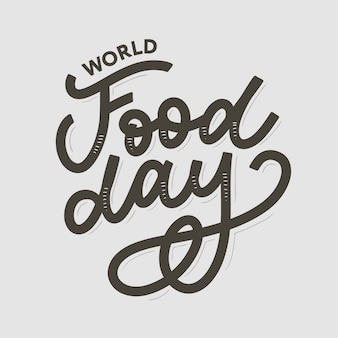 Illustration de la journée mondiale de l'alimentation. convient pour la carte de voeux, l'affiche et la bannière.